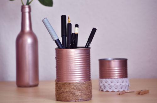 Konservendosen-Upcycling: Stiftehalter, Behälter & Blumentopf