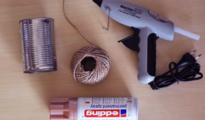 Material zum upcyceln von Konservendosen