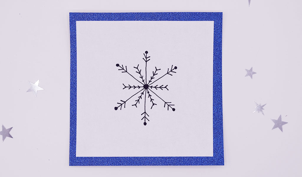Schneeflockenmuster zum Nachzeichnen für Weihnachtskarten