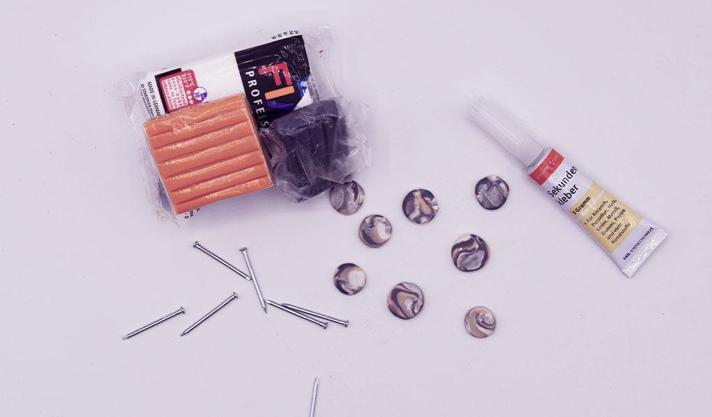 DIY Schlüsselhalter: Materialen für die Haken