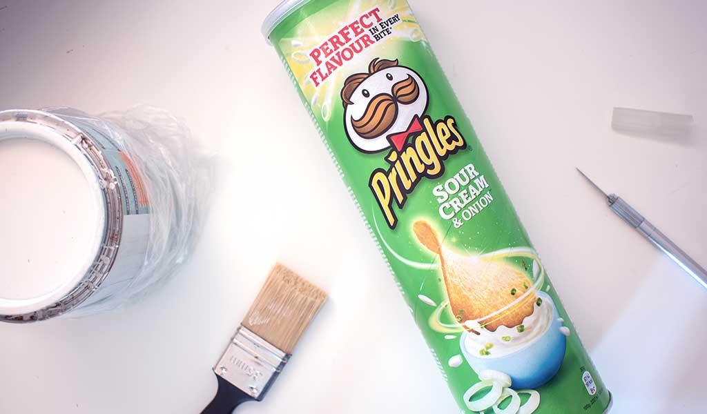 Schritt 1 für Pringelsdose Upcycling