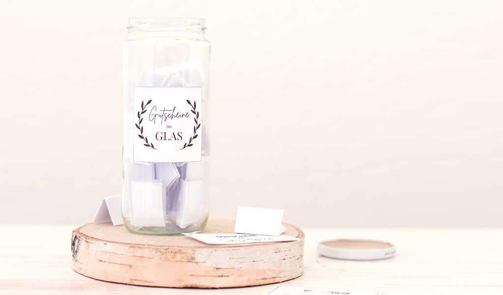 DIY Gutscheinglas aus Altglas - Upcycling