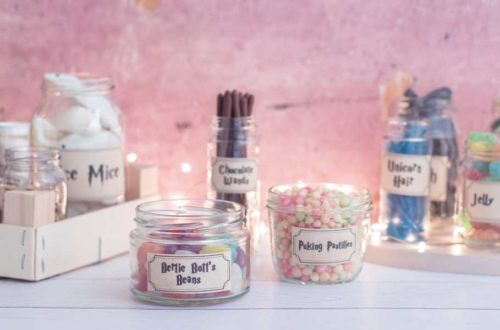 Selbstgemachte Harry Potter Candy Bar