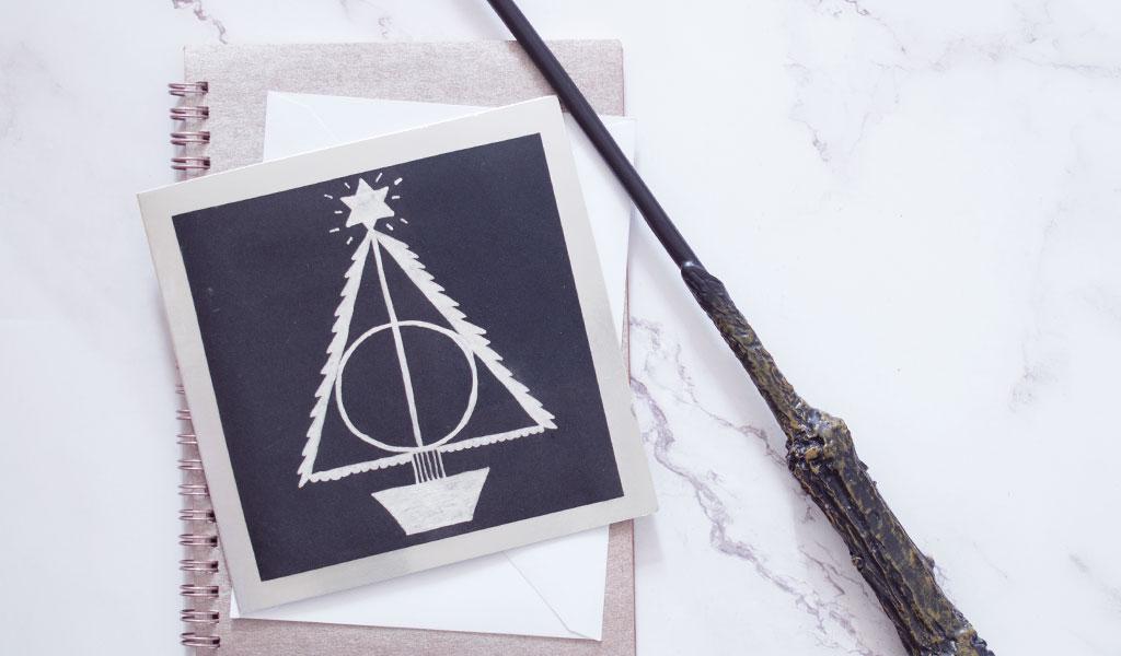 Harry Potter Karte zu Weihnachten