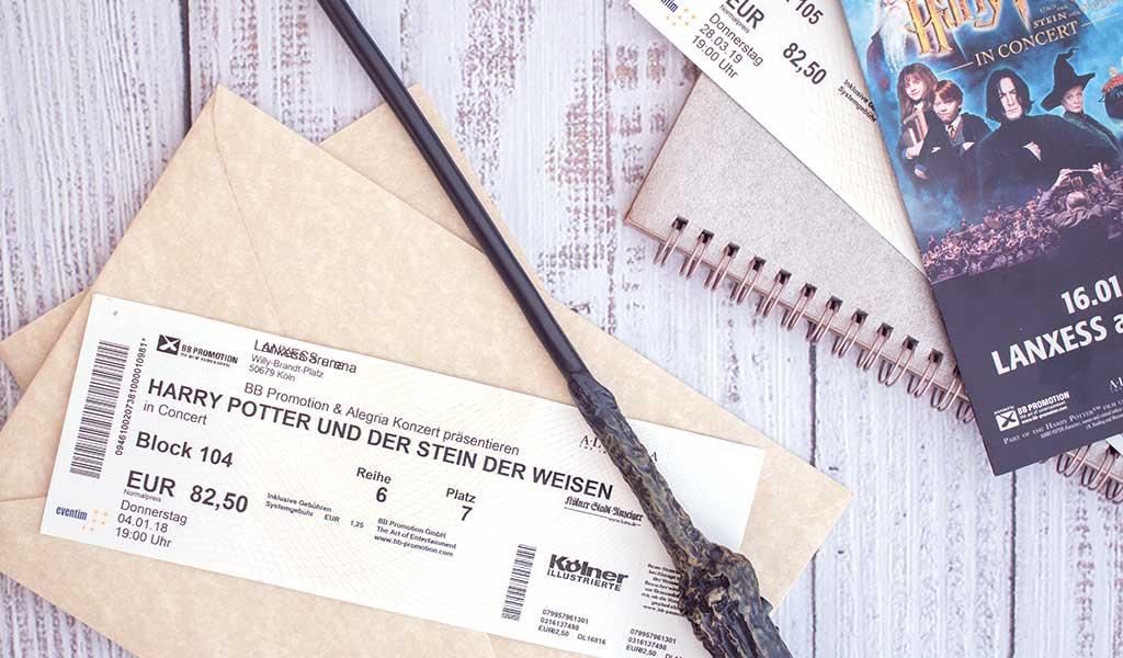 Harry Potter in Concert Eintrittskarte