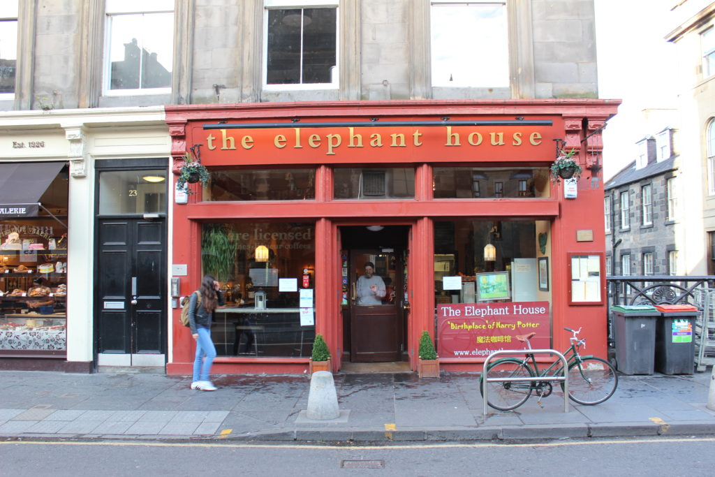 The Elephant House Cafe and Birthplace of Harry Potter