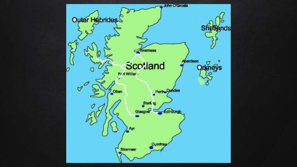 Harry Potter Reiseroute durch Schottland