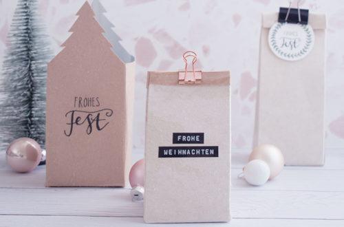 Milchtüten als nachhaltige Verpackungen zu Weihnachten
