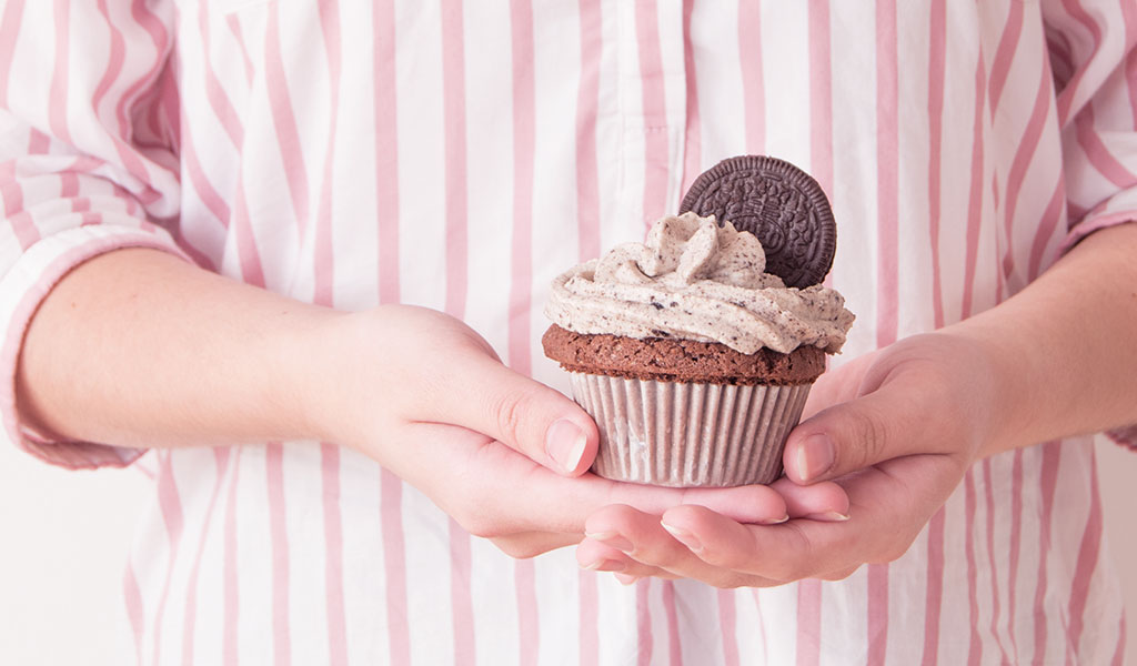 Selbstgemachte Oreo Cupcakes