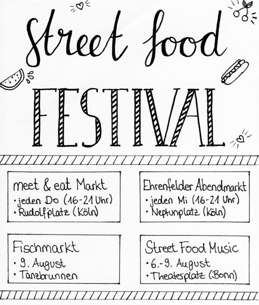 Gutschein für ein Street Food Festival im August