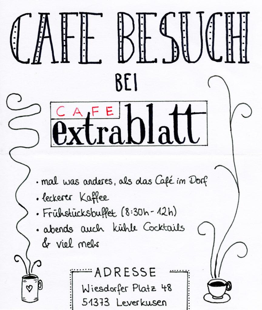 Gutschein für einen Café Besuch im Februar