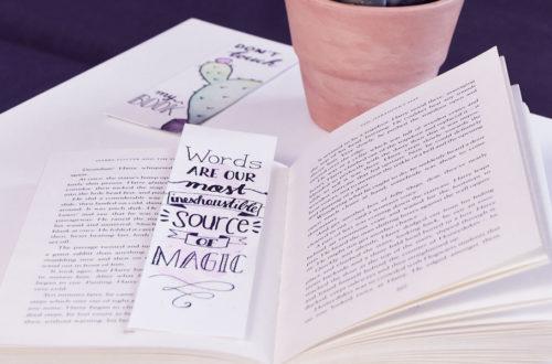DIY Lesezeichen als Geschenkidee mit coolen Sprüchen