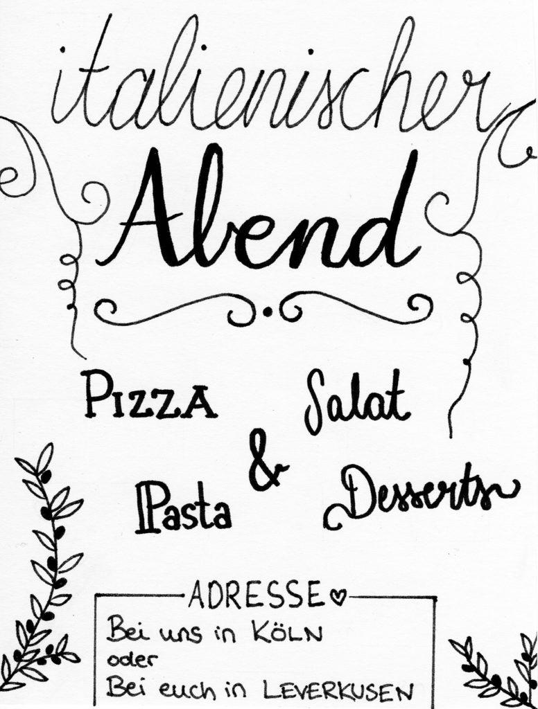Gutschein für einen italienischen Abend im Mai