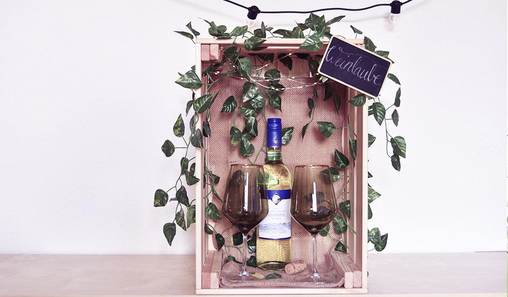 DIY Weinlaube als Geschenkdiee