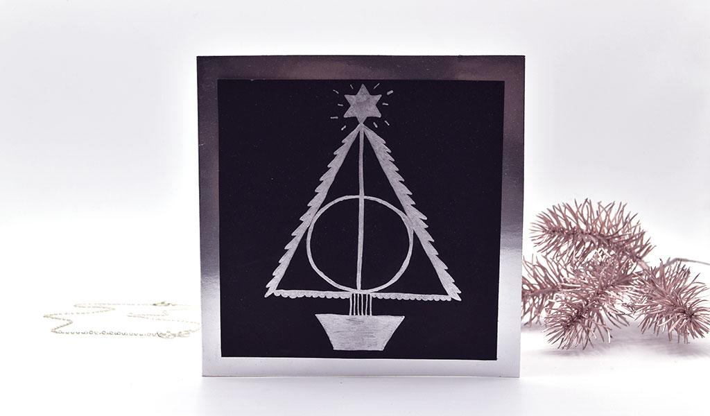 Weihnachtsbaum als weihnachtliches Harry Potter Motiv
